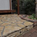 自然石のガーデンテラス